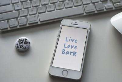 Live Love Bark Phone Wallpaper | www.thepugdiary.com