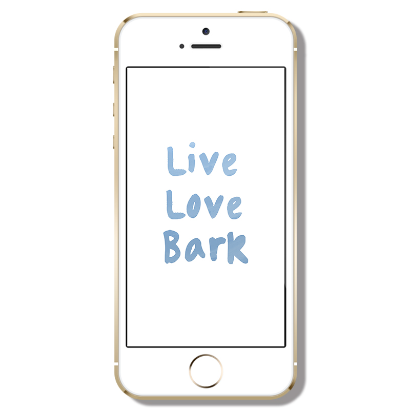 Live Love Bark Phone Wallpaper | www.thepugdiary.com