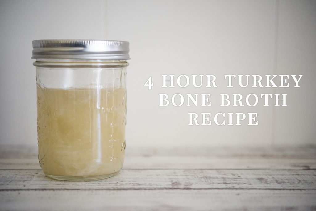 4 Hour Turkey Bone Broth Recipe | www.thepugdiary.com