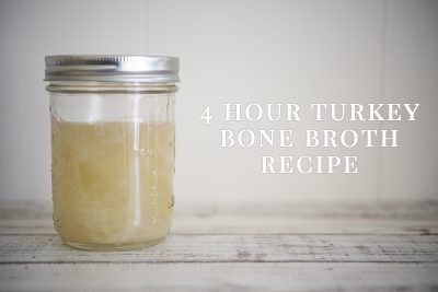 4 Hour Turkey Bone Broth Recipe | www.thepugdiary.com