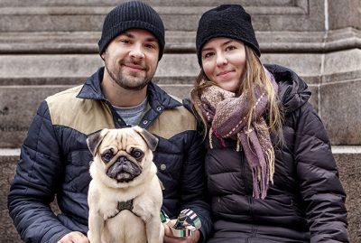 Caitlin + Derek's Pug Parent Profile | www.thepugdiary.com