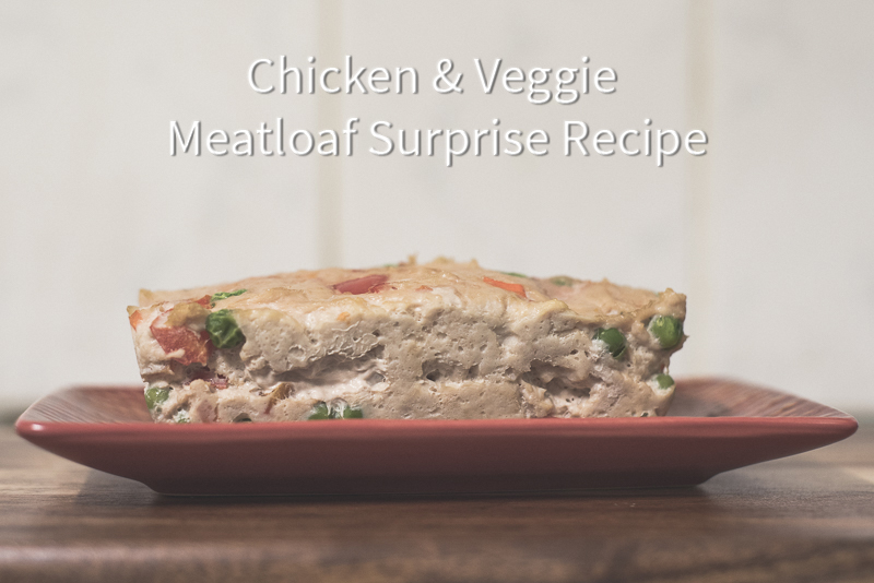 Chicken & Veggie Meatloaf Surprise Dog Dinner Recipe | www.thepugdiary.com