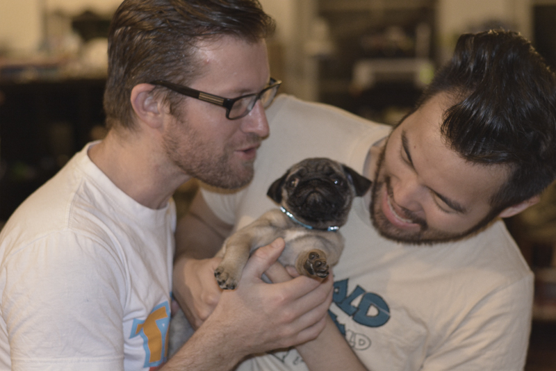 Chris + Ricky's Pug Parent Profile | www.thepugdiary.com
