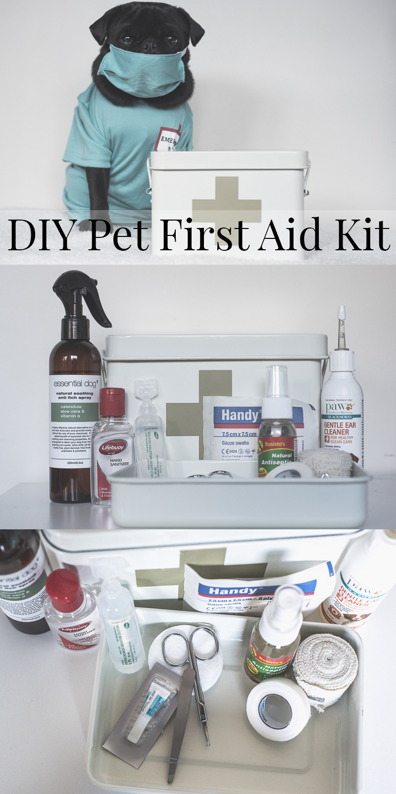 DIY Pet First Aid Kit | www.thepugdiary.com