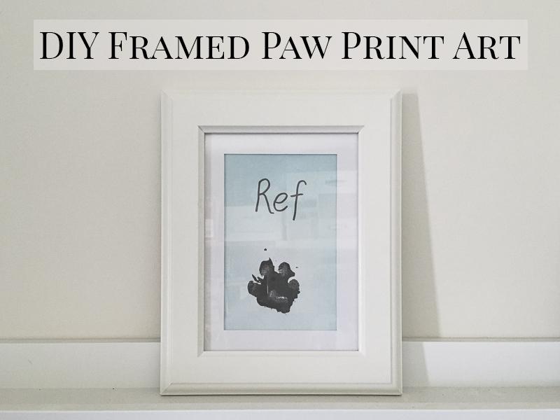 DIY Framed Paw Print Art | www.thepugdiary.com
