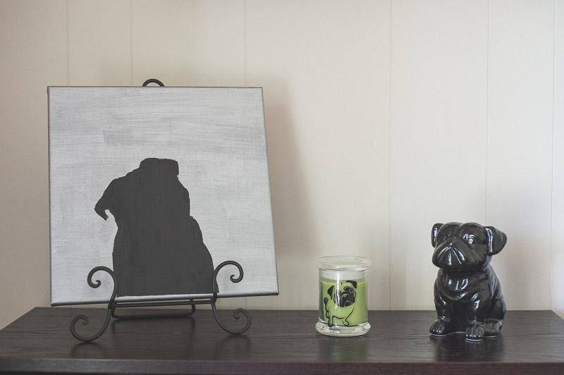 DIY Silhouette Canvas Art | www.thepugdiary.com