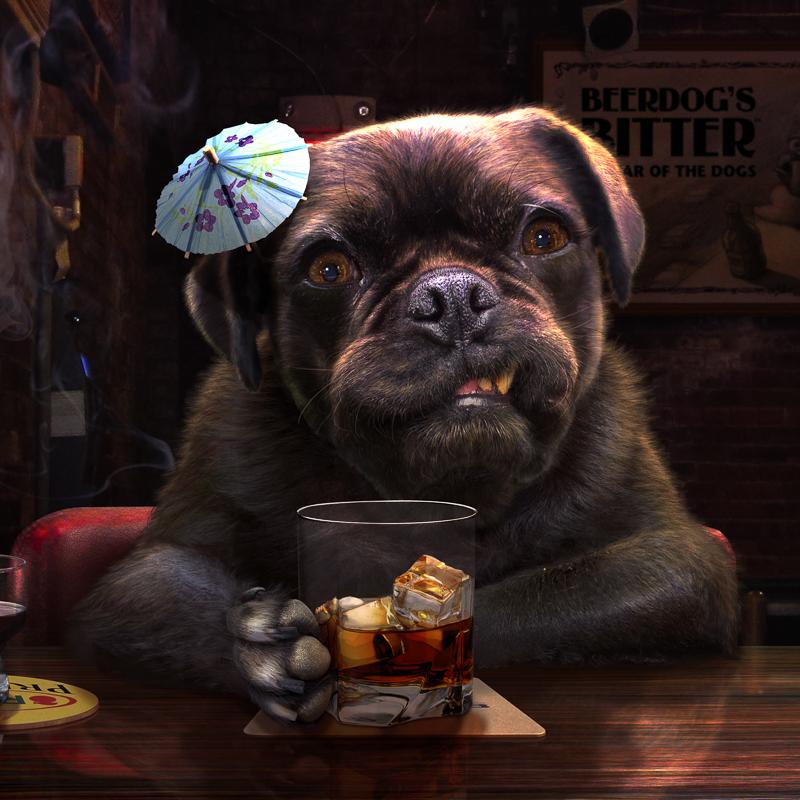 Custom Pug Art by Dog Side Studio | www.thepugdiary.com