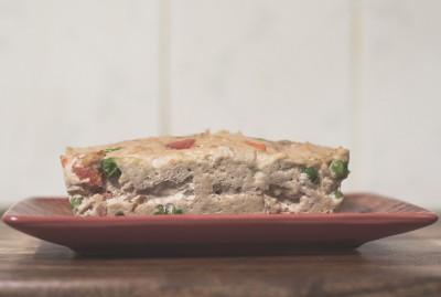 Chicken & Veggie Meatloaf Surprise Dog Dinner Recipe | www.thepugdiary.com