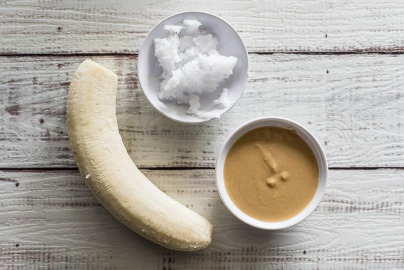Peanut Butter, Banana + Coconut Oil Dog Treats Recipe | www.thepugdiary.com