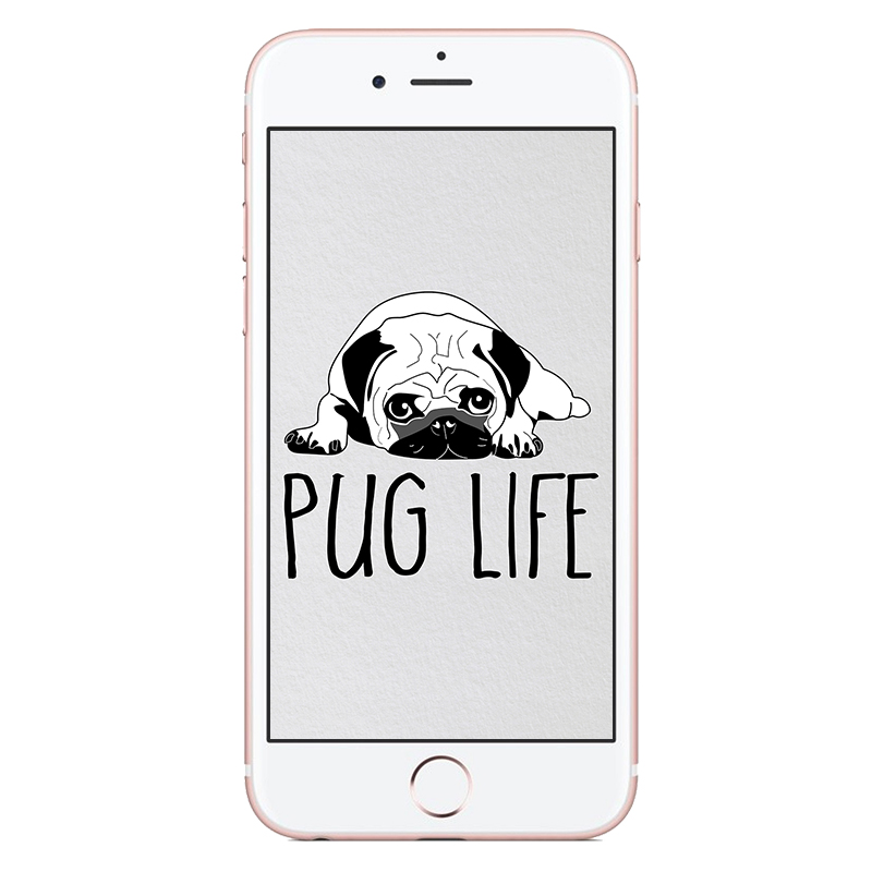 Free Pug Life Phone Wallpaper | www.thepugdiary.com