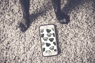 Pug Pattern Phone Wallpaper | www.thepugdiary.com