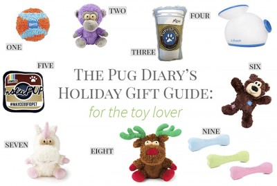Christmas Gift Guide for Pugs: The Toy Lover | www.thepugdiary.com