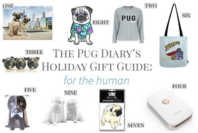 2017 Holiday Gift Guide for Pugs: The Human | www.thepugdiary.com