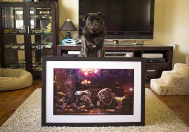 Custom Pug Art by Dog Side Studio | www.thepugdiary.com