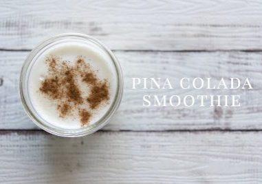 Pina Colada Smoothie Dog Treat Recipe | www.thepugdiary.com