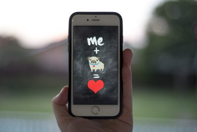 me + pug = love Phone Wallpaper | www.thepugdiary.com
